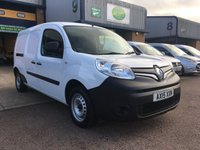 USED 2015 15 RENAULT KANGOO MAXI 1.5 LL21 CORE ENERGY DCI 90 BHP FSH, BLUETOOTH, A CHOICE OF 3, 6 MONTHS WARRANTY & FINANCE ARRANGED. Full service history - 3 Services - 2 Renault Main Agent - Last service on 27/04/2019 @ 73,414, E/W, Bluetooth, radio, driver's airbag, factory fitted bulk head, electric mirrors, twin side loading door, 1 Owner, remote Central Locking, Drivers Airbag, Steering Column Radio Control, racking (can be removed), Barn Rear Doors, spare key, finance arranged on site & 6 months premium Autoguard warranty.