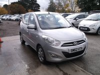 USED 2012 62 HYUNDAI I10 1.2 ACTIVE 5d 85 BHP Cheap to Run i10! Full service history and will have a new MOT Before Sale!