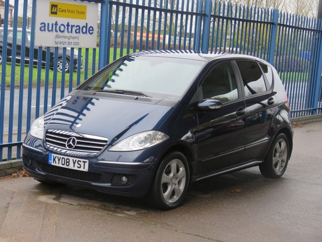 USED 2008 08 MERCEDES-BENZ A CLASS 1.5 A150 AVANTGARDE SE 5dr 1/2 Leather Privacy Air con Alloys ULEZ COMPLIANT Finance arranged Part exchange available Open 7 days