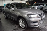 USED 2013 13 VOLKSWAGEN TOUAREG 3.0 V6 R-LINE TDI BLUEMOTION TECHNOLOGY 5d 242 BHP STUNNING CONDITION - BIG SPEC - 5 STAMPS TO 93K - LEATHER - NAV - POWERBOOT - FOLDING MIRRORS - GLASS PANORAMIC ROOF