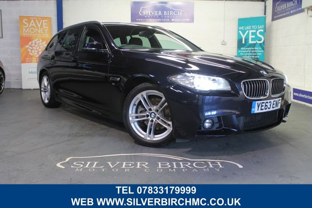 USED 2013 63 BMW 5 SERIES 2.0 520D M SPORT TOURING 5d 181 BHP Low Deposit Finance Available