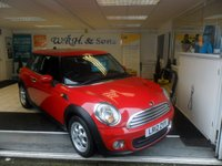 2012 MINI HATCH ONE 1.6 ONE 3d 98 BHP SOLD