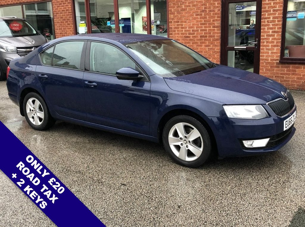 "USED 2016 66 SKODA OCTAVIA 2.0 SE TDI 5DOOR 148 BHP ONLY £20 Road Tax   :   DAB Radio   :   Satellite Navigation   :   USB & AUX Sockets      Bluetooth Connectivity   :   Climate Control / Air Conditioning   :   Rear Parking Sensors      16"" Alloy Wheels   :   2 Keys   :   Service History"