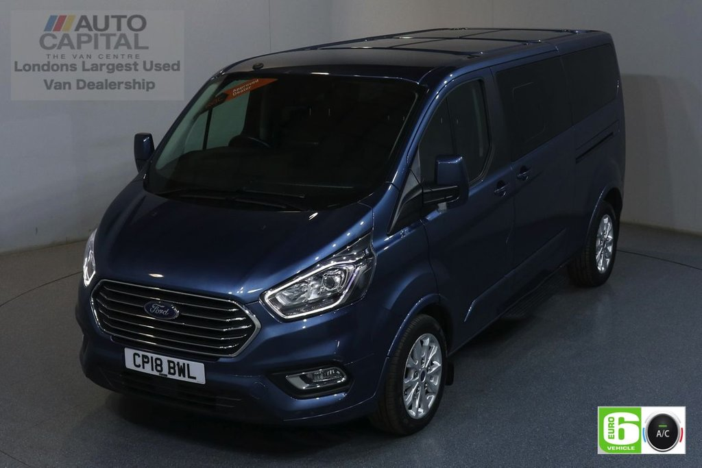 USED 2018 18 FORD TOURNEO CUSTOM 2.0 310 TITANIUM LWB 129 BHP 9 SEATS MINIBUS AIR CON, PARKING SENSORS, ALLOY WHEEL, HEATED FRONT SEATS