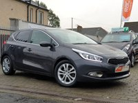 USED 2012 62 KIA CEED 1.6 2 ECODYNAMICS CRDI 5d 126 BHP PLEASE CALL IF YOU CANT SEE WHAT YOU ARE AFTER . WE WILL CHECK OUR OTHER BRANCHES FOR YOU . WE HAVE OVER 100 CARS IN GROUP STOCK