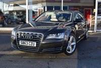 USED 2013 63 AUDI A8 3.0 TDI QUATTRO SE EXECUTIVE 4d 247 BHP FINANCE TODAY WITH NO DEPOSIT