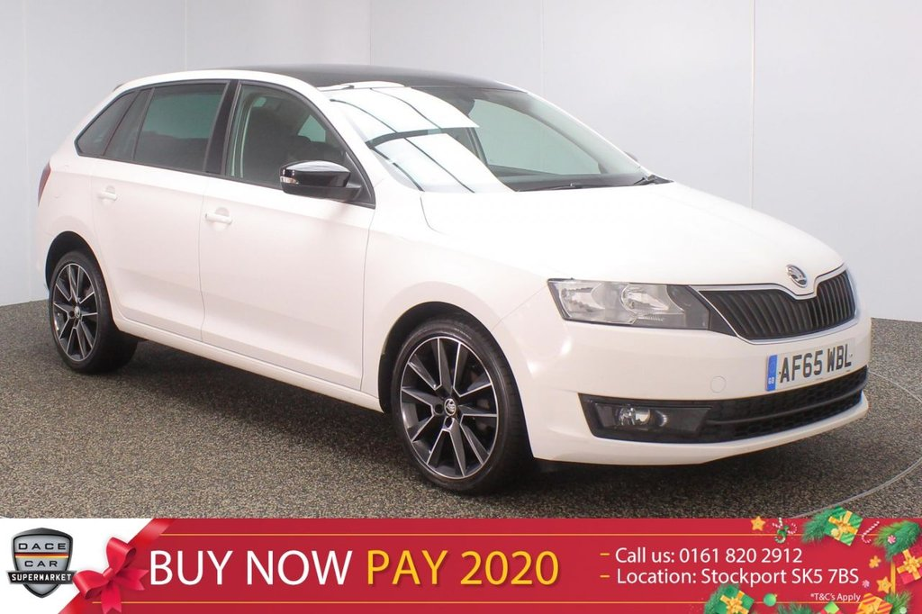 USED 2015 65 SKODA RAPID 1.4 SPACEBACK SE SPORT TDI DSG 5DR SAT NAV PAN ROOF 1 OWNER 89 BHP SERVICE HISTORY + FREE 12 MONTHS ROAD TAX + SATELLITE NAVIGATION + PANORAMIC ROOF + PARKING SENSOR + BLUETOOTH + CRUISE CONTROL + CLIMATE CONTROL + MULTI FUNCTION WHEEL + PRIVACY GLASS + DAB RADIO + ELECTRIC WINDOWS + ELECTRIC MIRRORS + 17 INCH ALLOY WHEELS
