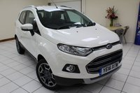 USED 2016 16 FORD ECOSPORT 1.5 TITANIUM TDCI 5d 94 BHP ONE OWNER / 24,160 MILES / SERVICE HISTORY / MULTIPLE AIRBAGS / ISOFIX / PART LEATHER TRIM / AIRCON