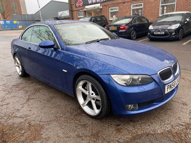 USED 2008 58 BMW 3 SERIES 3.0 330I SE 2d 269 BHP CONVERTIBLE EXCELLENT LOW MILEAGE EXAMPLE IN THE BEST COLOUR WITH SERVICE HISTORY, ALLOY WHEELS, ELECTRIC ROOF, ELECTRIC LEATHER SEATS, ELECTRIC MEMORY DRIVERS SEAT, 4X ELECTRIC WINDOWS, ELECTRIC DOOR MIRRORS, MULTI FUNCTION STEERING WHEEL, AUTO HEAD LIGHTS, AUTO CLIMATE CONTROL, RADIO/CD, CRUISE CONTROL, PUSH BUTTON START/STPOP, 2X KEYS