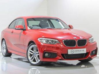 2015 BMW 2 SERIES 2.0 220D M SPORT 2d 188 BHP £12490.00