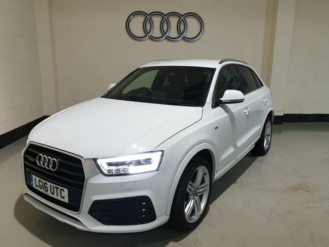 "USED 2016 16 AUDI Q3 2.0 TDI QUATTRO S LINE PLUS 5d 182 BHP NAV 1 Owner/ Nav /Park Sensors/Cruise/19"" Alloys/Power Boot"