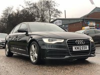 USED 2012 12 AUDI A6 2.0 TDI S LINE 4d 175 BHP NAVIGATION SYSTEM +   BLUETOOTH +  LEATHER +  PARKING AID +  SERVICE RECORD +   MOT OCT 2020 +