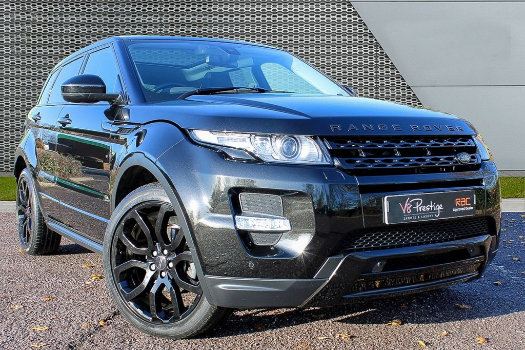 USED 2014 14 LAND ROVER RANGE ROVER EVOQUE 2.2 SD4 DYNAMIC 5d 190 BHP *BLACK STEALTH PACK/PAN ROOF*