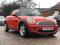 2009 MINI CONVERTIBLE 1.6 COOPER 2d 120 BHP £4995.00