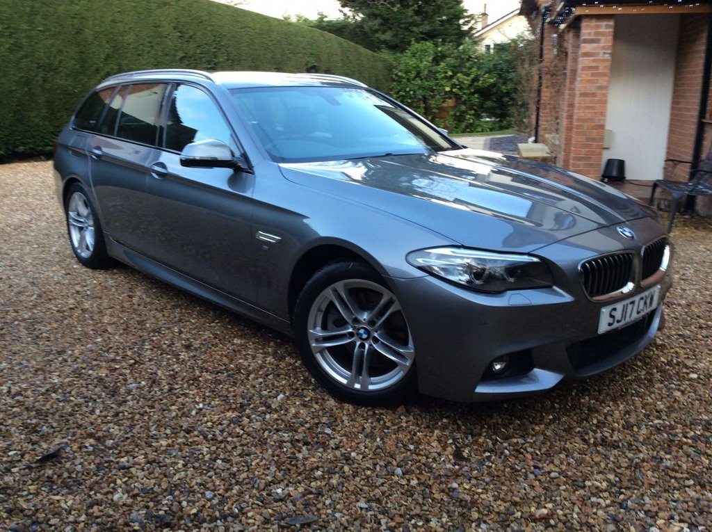 USED 2017 17 BMW 5 SERIES 2.0 520d M SPORT TOURING 5d 188 BHP 1 OWNER FSH  ESTATE