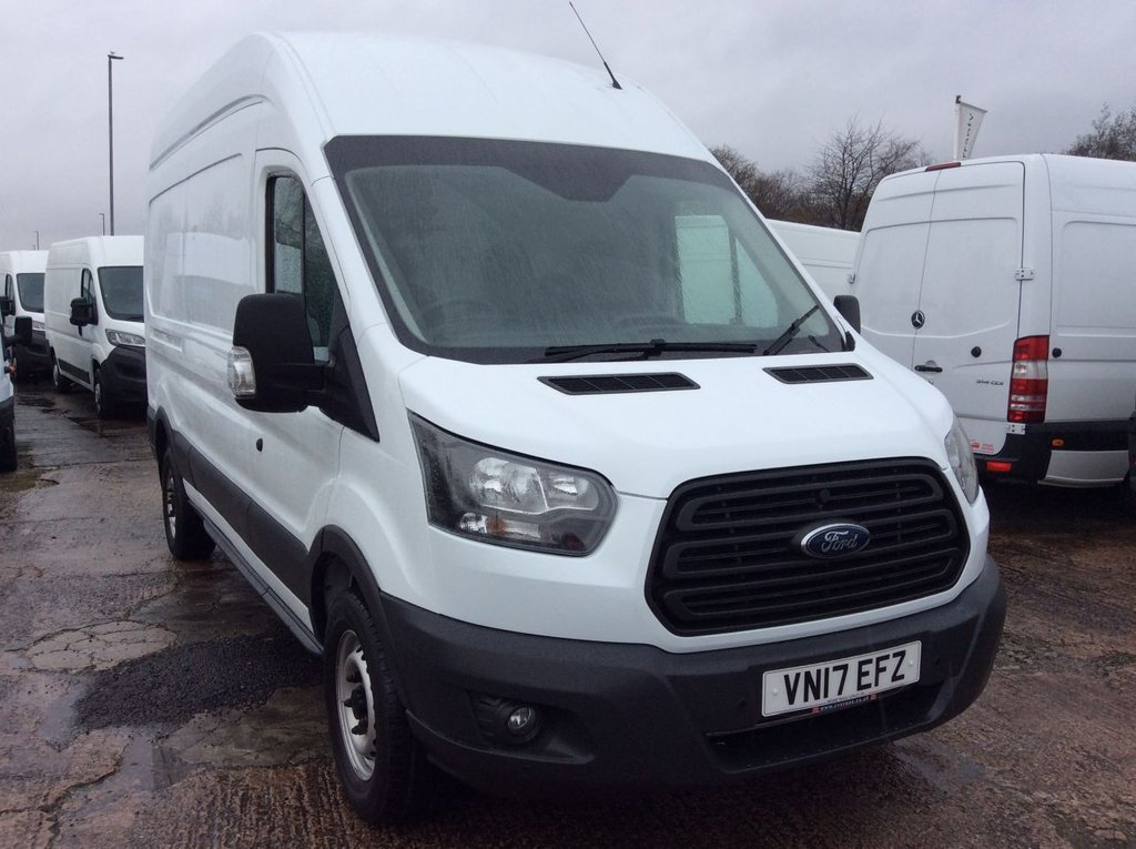 USED 2017 17 FORD TRANSIT LWB 2.0 350 L3 H3 DRW 129 BHP 1 OWNER FSH MANUFACTURERS WARRANTY EURO 6 FRONT AND REAR PARKING SENSORS ELECTRIC WINDOWS 6 SPEED BLUETOOTH