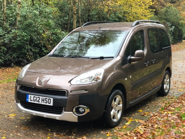 USED 2012 12 PEUGEOT PARTNER 1.6 TEPEE OUTDOOR HDI 5d 112 BHP AIR CON LOW MILEAGE FINANCE ME TODAY-UK DELIVERY POSSIBLE