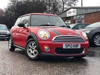 2013 MINI HATCH ONE 1.6 ONE 3d 98 BHP £7500.00