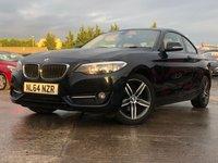 "USED 2014 64 BMW 2 SERIES 2.0 218D SPORT 2d 141 BHP 17"" ALLOYS+30 ROAD TAX+ELECS+CLIMATE+PARK+LEATHER+CLEAN CAR+USB+"