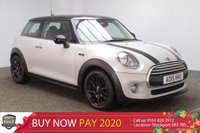 USED 2015 15 MINI HATCH COOPER 1.5 COOPER D 3DR CHILI PACK 114 BHP  FULL MINI SERVICE HISTORY + FREE 12 MONTHS ROAD TAX + HEATED HALF LEATHER SEATS + SATELLITE NAVIGATION + BLUETOOTH + CRUISE CONTROL + CLIMATE CONTROL + MULTI FUNCTION WHEEL + DAB RADIO + ELECTRIC WINDOWS + ELECTRIC MIRRORS + 14 INCH ALLOY WHEELS