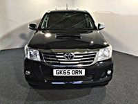 USED 2015 65 TOYOTA HI-LUX 3.0 INVINCIBLE 4X4 D-4D DCB 169 BHP FULL MAIN DEALER SERVICE HISTORY, HIGH SPEC,