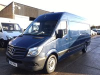 USED 2015 15 MERCEDES-BENZ SPRINTER 2.1 313CDI LWB HIGH ROOF 130BHP BLUE. 1 OWNER. FINANCE. PX 1 OWNER. F/S/H. LOW FINANCE. RARE BLUE. PX POSS