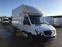 USED 2016 16 MERCEDES-BENZ SPRINTER 2.1 313CDI LUTON LWB BOX TAIL LIFT 130BHP. 1 OWNER. FINANCE. PX 1 OWNER. LOW FINANCE. TAIL LIFT. CHOICE OF 4. PX