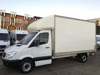USED 2013 63 MERCEDES-BENZ SPRINTER 2.1 313CDI LUTON LWB BOX TAIL LIFT 130BHP. 1 OWNER. FINANCE. PX LUTON TAIL LIFT. LOW 86K MILES. 1 OWNER. FINANCE. PX