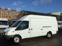 USED 2013 13 FORD TRANSIT 2.2TDCI T350 LWB JUMBO HIGH ROOF 125BHP. 1 OWNER. FINANCE. PX 1 OWNER. LEZ COMPLIANT. LOW FINANCE. PX. WARRANTY.