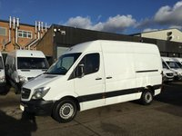 USED 2015 64 MERCEDES-BENZ SPRINTER 2.1 313CDI MWB HIGH ROOF 130BHP 1 OWNER. F/S/H. FINANCE 1 OWNER. LOW FINANCE. LEZ COMPLIANT. WARRANTY. PX