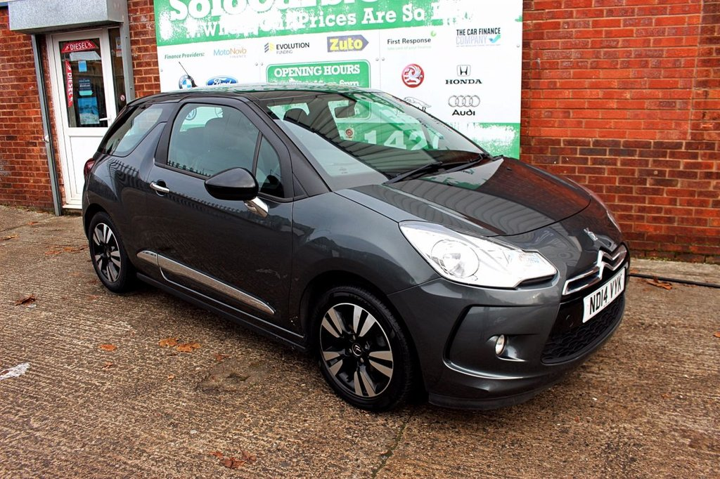 USED 2014 14 CITROEN DS3 1.2 DSIGN 3d 82 BHP +ONE OWNER +FSH +LOW TAX.