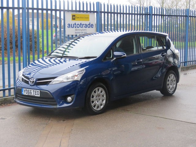 USED 2016 66 TOYOTA VERSO 1.6 D-4D ACTIVE 5d 110 BHP 7 Seater with low miles and service history