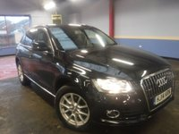 USED 2014 14 AUDI Q5 2.0 TDI QUATTRO SE 5d 175 BHP *FINANCE ARRANGED*PART EXCHANGE WELCOME*PART LEATHER*F+R PS*DAB*CRUISE*DUEL CLIMATE*STOP/START*VOICE*A/C
