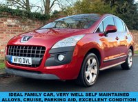 USED 2010 10 PEUGEOT 3008 1.6 SPORT 5d 120 BHP MOT HISTORY, VERY WELL SELF MAINTAINED, 1YR MOT, EXCELLENT CONDITION,  ALLOYS, CRUISE, AIR CON, RADIO CD, E/WINDOWS, R/LOCKING, FREE WARRANTY, FINANCE AVAILABLE, HPI CLEAR, PART EXCHANGE WELCOME,