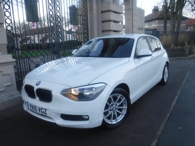 USED 2015 15 BMW 1 SERIES 1.6 116D EFFICIENTDYNAMICS 5d 114 BHP *FINANCE ARRANGED*PART EXCHANGE WELCOME*1 OWNER*£0 TAX*BLUETOOTH*A/C*AUTO LIGHTS & WIPERS*DAB RADIO*AUX