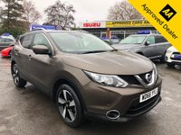 2016 NISSAN QASHQAI 1.5 N-CONNECTA DCI 5d 108 BHP IN METALLIC BRONZE WITH ONLY 7500 MILES, WITH A FULL SERVICE HISTORY, 1 OWNER AND A GREAT SPEC INCLUDING A PANORAMIC ROOF £11999.00