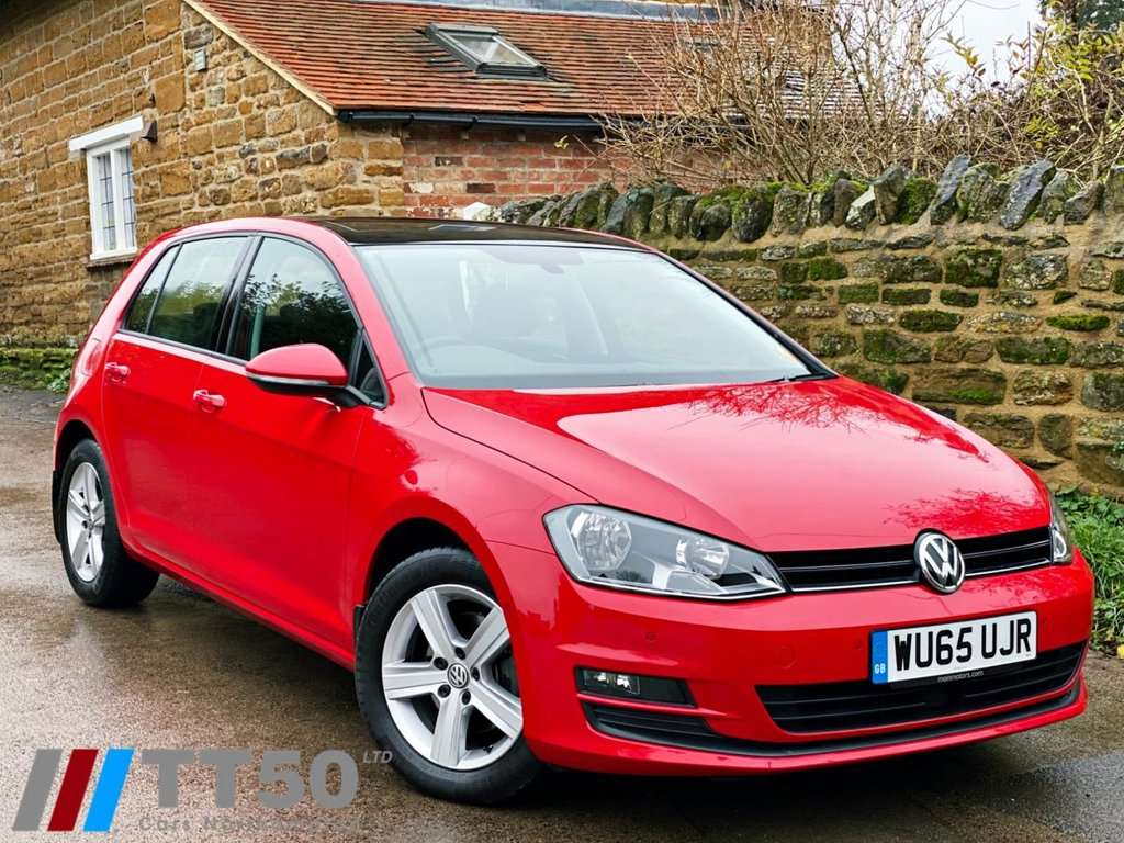 USED 2015 65 VOLKSWAGEN GOLF 1.4 MATCH TSI BLUEMOTION TECHNOLOGY DSG 5d 124 BHP FULL DEALER HISTORY, 1 OWNER CAR, LOW MILEAGE, PANORAMIC SUNROOF.