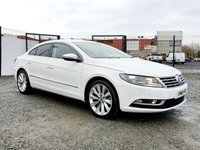 USED 2016 16 VOLKSWAGEN CC 2.0 GT TDI BLUEMOTION TECHNOLOGY 4d 148 BHP STUNNING CANDY WHITE GT  MODEL
