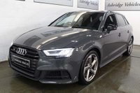 USED 2017 67 AUDI A3 2.0 TFSI Black Edition Sportback S Tronic quattro (s/s) 5dr SUPER SPORT SEATS! 1 OWNER!