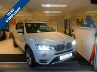 USED 2015 15 BMW X3 3.0 XDRIVE30D XLINE 5d 255 BHP RARE PEARL WHITE!