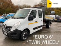2016 RENAULT MASTER **EURO 6** 2.3 LL35 BUSINESS DCI L/R TIPPER Twin Wheel 125 BHP *55,000 MILES* £11995.00