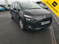 USED 2015 65 CITROEN C4 GRAND PICASSO 1.2 PURETECH VTR PLUS 5d 129 BHP IN METALLIC BLACK WITH ONLY 64500 MILES, FULL SERVICE HISTORY AND A GREAT SPEC INCLUDING 7 SEATS  Approved Cars are pleased to offer this stunning 2015 Citroen C4 Grand Picasso 1.2 petrol with only 64500 miles. This car has been extremely well looked after and maintained and comes with a full service history with service stamps at 17k, 30k, 42k and 55000 miles. This is an ideal family car with 7 seats and an economical 1.2 engine. It comes well equipped with rear parking sensors, bluetooth, DAB radio, isofix and much much more. For more information or to book a test drive please call