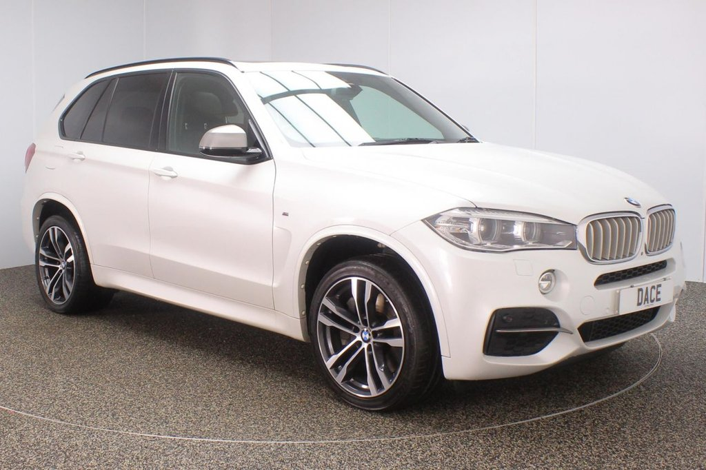 USED 2016 66 BMW X5 3.0 M50D 5DR AUTO 7 SEATS 376 BHP FULL BMW SERVICE HISTORY + FRONT/REAR HEATED LEATHER SEATS + 7 SEATS + SATELLITE NAVIGATION PROFESSIONAL + SURROUND VIEW CAMERA + PANORAMIC ROOF + HEAD-UP DISPLAY + HARMAN/KARDON PREMIUM SPEAKERS + HEATED STEERING WHEEL + ACTIVE PEDESTRIAN PROTECTION + BLUETOOTH + CRUISE CONTROL + CLIMATE CONTROL + XENON HEADLIGHTS + DAB RADIO + ELECTRIC/MEMORY SEATS + ELECTRIC WINDOWS + ELECTRIC MIRRORS + 20 INCH ALLOY WHEELS