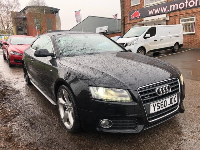 USED 2011 60 AUDI A5 2.0 TFSI QUATTRO S LINE SPECIAL EDITION 2d 208 BHP EXCELLENT EXAMPLE WITH ALLOY WHEELS, PARK SENSORS, LEATHER SEATS, RADIO/CD/AUX/USB, SATELLITE NAVIGATION