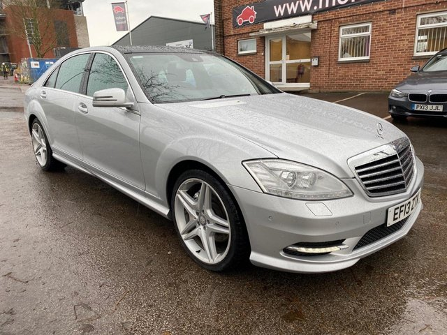 USED 2013 06 MERCEDES-BENZ S CLASS 3.0 S350 BLUETEC L AMG SPORT EDITION 4d 258 BHP PAN ROOF EXCELLENT EXAMPLE WITH SERVICE HISTORY, ALLOY WHEELS, PARK SENSORS, SUN ROOF, HEATED WINDSCREEN, HEATED LEATHER SEATS, RADIO/CD/AUX/USB, CRUISE CONTROL, CLIMATE CONTROL, SATELLITE NAVIGATION