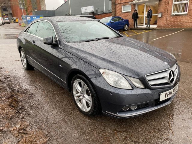 USED 2011 11 MERCEDES-BENZ E CLASS 2.1 E220 CDI BLUEEFFICIENCY SE 2d 170 BHP COUPE EXCELLENT EXAMPLE WITH SERVICE HISTORY, ALLOY WHEELS, PARK SENSORS, HEATED LEATHER SEATS, RADIO/CD, CRUISE CONTROL, CLIMATE CONTROL, SATELLITE NAVIGATION.