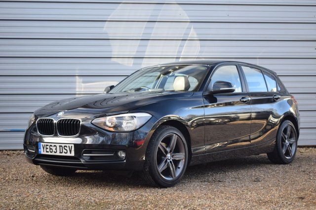 USED 2013 63 BMW 1 SERIES 2.0 116D SPORT 5d 114 BHP Dakota Leather ONLY 43,000M
