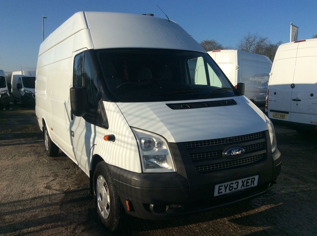 USED 2013 63 FORD TRANSIT JUMBO 2.2 350 EL  H/R L4 124 BHP 1 OWNER FSH MOT FREE 6 MONTHS AA WARRANTY INCLUDING RECOVERY AND ASSIST NEW MOT EURO 5 ELECTRIC WINDOWS 6 SPEED