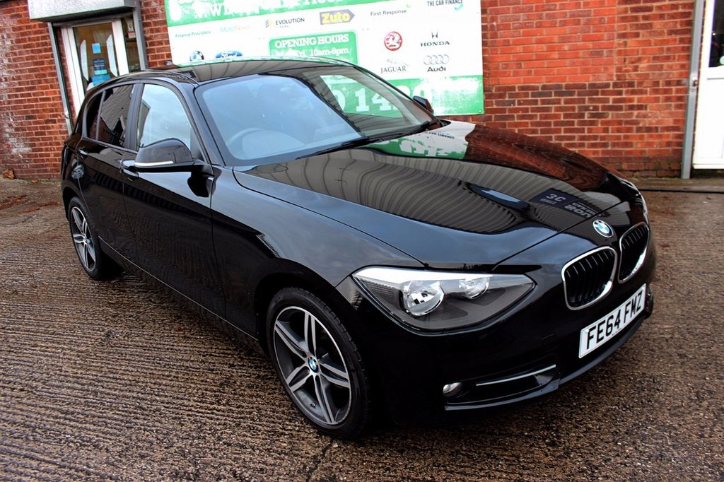USED 2014 64 BMW 1 SERIES 2.0 118D SPORT 5d 141 BHP +ONE OWNER +LOW TAX +SAT NAV.