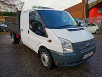 2012 FORD TRANSIT 350 Double / Utility Cab Alloy One Stop Tipper *REAR STORAGE* SOLD